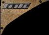 wood plaque Flite logo