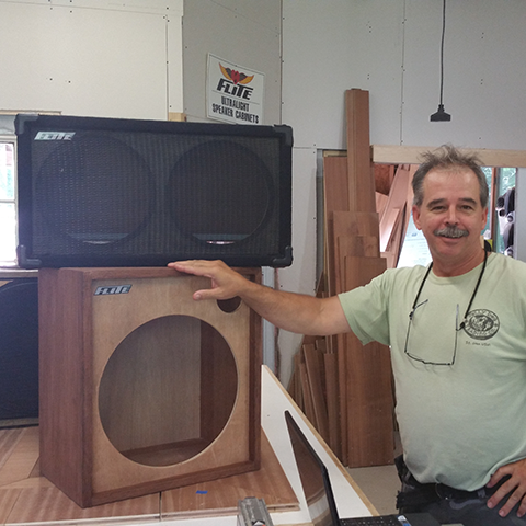 custom hand crafted speaker cabinets
